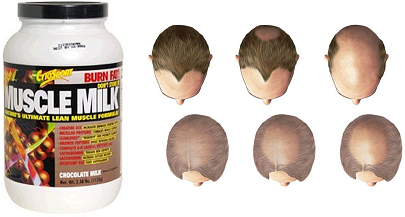 can baldness be caused by protein shakes?