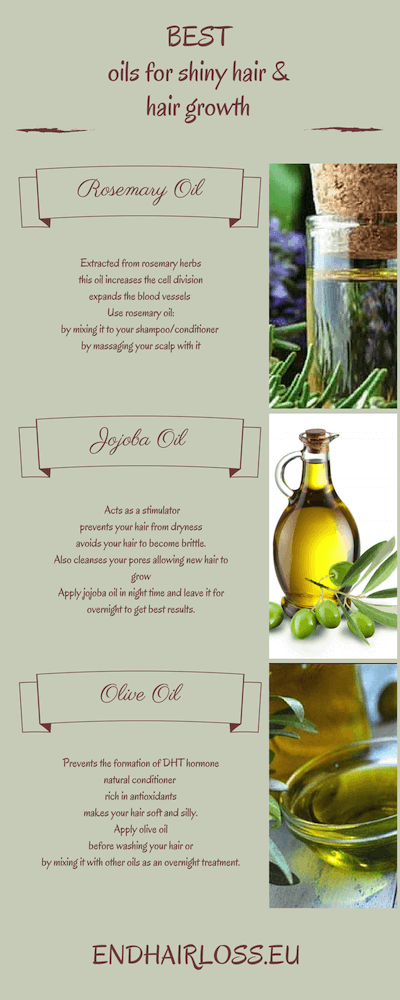 BEST oils for shiny hair and hair growth